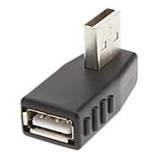 90 grados a la derecha del adaptador USB M / F