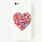 아이폰 4/4S를위한 다채로운 사랑 꽃 본 폴리 카보네이트 하드 케이스
