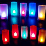 colorida forma de vela de llama abs llevó la luz de la noche para el festival de navidad de halloween