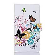 소니 T2위한 카드 구멍을 가진 다채로운 나비 패턴 PU 가죽 가득 차있는 몸 케이스
