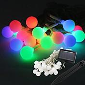 Bola de energía cadena de forma de hadas llevada solar-20 de la lámpara de luz 9m bombilla para la decoración