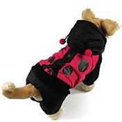Gatos / Perros Abrigos Negro Ropa para Perro Invierno / Primavera/Otoño Bloques Moda / Mantiene abrigado