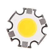 5W 450-500LM COB 3000K calientan la viruta del LED de luz blanca (15-17V, 300uA)