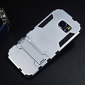 Para Funda Samsung Galaxy Carcasa Funda Antigolpes con Soporte Cubierta Trasera Funda Armadura Policarbonato para Samsung S6 edge
