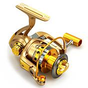 Carretes para pesca spinning 5.5:1 10 Rodamientos de bolas Intercambiable Pesca al spinning-HF1000/HF2000/HF3000/HF4000