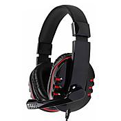 kanen km-790 auricular estéreo bajo con micrófono omnidireccional (negro)
