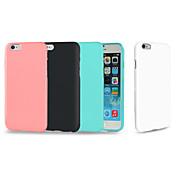 Para iPhone 8 iPhone 8 Plus iPhone 7 Plus iPhone 6 iPhone 6 Plus Carcasa Funda Antigolpes Cubierta Trasera Funda Color sólido Suave TPU