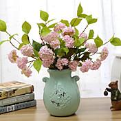 Seda Hortensias Flores Artificiales