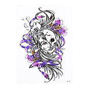1 타투 스티커 기타 Non Toxic / 패턴 / 허리 아래 / Waterproof여성 / 남성 / 어른 플래시 문신 임시 문신