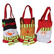 3PCS 창조적 인 가정용 유틸리티 선물 스테레오 크리스마스 눈사람 사탕 가방 크리스마스 선물 가방 크리스마스 선물 가방 크리스마스 가방