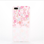 용 패턴 케이스 뒷면 커버 케이스 꽃장식 소프트 TPU 용 Apple 아이폰 7 플러스 아이폰 (7) iPhone 6s Plus iPhone 6 Plus iPhone 6s 아이폰 6