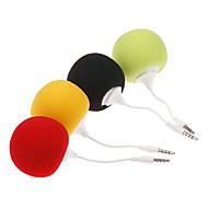 3,5 mm-es divatos mini hangszóró, aranyos zenelabda MP3 MP4 mobil PC tablet (vegyes színek)