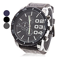 V6 Herren Militäruhr Armbanduhr Quartz Japanischer Quartz Stoff Band Schwarz Blau Grau
