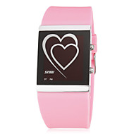 Dames Modieus horloge Digitaal LED Silicone Band Heart Shape Zwart Wit Blauw Roze roze Wit Zwart Roos Blauw Roze