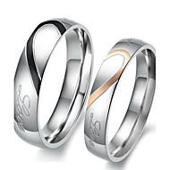 커플용 커플 링 약혼 반지 러브 신부 의상 보석 스테인레스 Heart Shape 보석류 제품 결혼식 파티 생일 약혼 일상