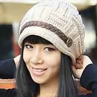 invierno cálido sombrero hecho punto de las mujeres