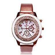 spersonalizowanych prezent damska biała tarcza ze zespół pu analogowy zegarek grawerowane