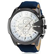 V6 Herren Militäruhr Armbanduhr Quartz PU Band Schwarz Braun Grün Marinenblau Schwarz Braun Grün Marineblau
