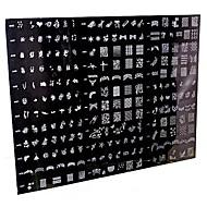 1 stuk 250 ontwerp big nail art stempel stempelen afbeelding template plaat / nagelsjablonen (willekeurig patroon)