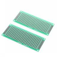 3 x 7 εκ διπλής όψης ίνες γυαλιού πρωτοτύπων PCB καθολική breadboard (2 τμχ)