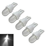 Jiawen® 5 sztuk t10 0.5w 30lm 6000-6500k chłodne białe lampki sygnalizacyjne samochodowe doprowadziły światło samochodowe (dc 12v)