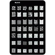 nail art stempelen / stamper afbeelding template plaat nagelsjablonen / mallen voor acryl nagels tips mls serie no.3