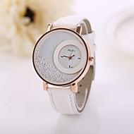 Damskie Modny Kryształowy zegarek Kwarcowy sztuczna Diament PU Pasmo Kwiat Biały Czerwony Różowy Purpurowy