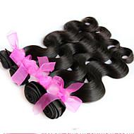 İnsan saç örgüleri Düz Brezilya Saçı Dalgalı 1 Parça saç örgüleri