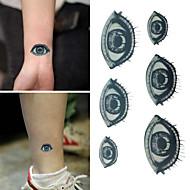 1 - 6*10.5cm (2.36*4.13in) - Μαύρο/Μπλε - Eyes Άλλα - Αυτοκόλλητα Τατουάζ - Non Toxic/Χαμηλά στην Πλάτη/Waterproof - από Χαρτί για