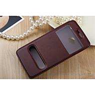 For HTC etui Med stativ Med vindue Flip Etui Heldækkende Etui Helfarve Hårdt Kunstlæder for HTCHTC One M9 HTC One M7 HTC One M8 HTC