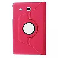 Mert Samsung Galaxy tok Állvánnyal / Flip / 360° forgás Case Teljes védelem Case Egyszínű Műbőr SamsungTab S2 9.7 / Tab S2 8.0 / Tab E