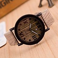 Γυναικεία Μοδάτο Ρολόι Ρολόι Ξύλο Χαλαζίας Δέρμα Μπάντα Πεπαλαιωμένο Καφέ Χακί 2# 3 Κιλά 4# 5# 6#