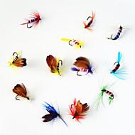 12 szt Flies Návnady Muchy Różne kolory g/Uncja mm cal,Metal Fly Fishing