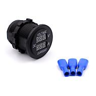 12v-24v voltímetro digital medidor de corrente impermeável marinho barco motocicleta carro voltímetro