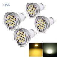 Youoklight® 4 szt gu10 6w cri = 80 450-500lm ciepłe białe / zimne białe 15-smd5630 lampki punktowe (ac 85 ~ 265v)