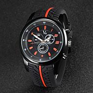 V6 Herren Armbanduhr Quartz Japanischer Quartz Caucho Band Schwarz Weiß Schwarz Orange