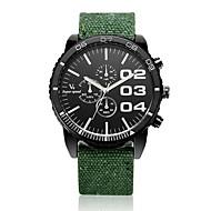V6 Herren Armbanduhr Quartz Stoff Band Schwarz Blau Rot Grün