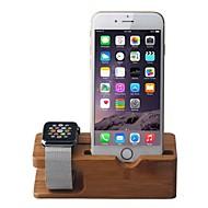 Apple kijken en iPhone bamboe staan opladen dock station beugel cradle houder voor apple horloge iWatch
