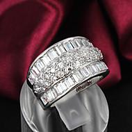Női Karikagyűrűk jelmez ékszerek Ezüst Cirkonium Strassz Ezüstözött Ékszerek Kompatibilitás Esküvő Parti Napi Hétköznapi