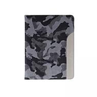 ultradunne camouflage stijl lederen tas fashion cool met riem kaarthouder geval voor ipad lucht 2 / ipad 6