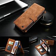 Varten Samsung Galaxy S7 Edge Korttikotelo / Lomapkko / Tuella / Flip Etui Kokonaan peittävä Etui Yksivärinen Kova Aito nahka SamsungS7
