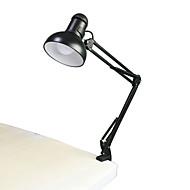 Jiawen 5w 400lm foldbare lange arm bog læselamper E27 clip-on bordlampe (ac110 ~ 220V)