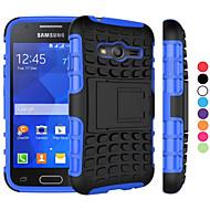 2 in 1 dual-kleuren afneembare PC + TPU hybride koffer met standaard voor de Samsung Galaxy kern prime / grand prime / jonge 2/4 ace