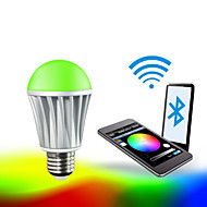7W E26/E27 LED Έξυπνες Λάμπες A60(A19) RGB 5050 5PCS,2835 10 PCS SMD 5050 Red:45-75LM,Green:100-150LM,Blue:20-50LM,Warmwhite:400-550LM lm