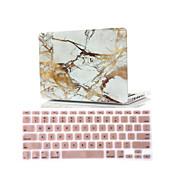 """2 σε 1 μαρμάρινα καουτσούκ σκληρή κάλυψη περίπτωσης + κάλυμμα πληκτρολογίου για τον αέρα MacBook 11 """"αμφιβληστροειδή 13"""" / 15 """""""