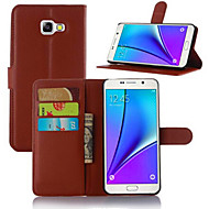 Για Samsung Galaxy Θήκη Θήκη καρτών με βάση στήριξης Ανοιγόμενη Μαγνητική tok Πλήρης κάλυψη tok Μονόχρωμη Συνθετικό δέρμα για SamsungA5