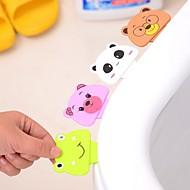 만화 변기 커버 리프팅 장치 화장실 변기 뚜껑 휴대용 화장실 변기 폴더 형 홀더 (ramdon 색상)