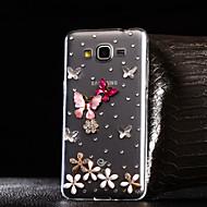 For Samsung Galaxy etui Rhinsten Transparent Etui Bagcover Etui Sommerfugl TPU for Samsung A7(2016) A5(2016) A3(2016) A8 A7 A5 A3