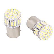 1156 / BA15S 5W 50 branca LED SMD para a luz de direcção do carro / backup / luz de freio (DC12V, 4pcs)