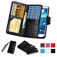 Voor Samsung Galaxy Note Kaarthouder / Portemonnee / Flip hoesje Volledige behuizing hoesje Effen kleur PU-leer SamsungNote 5 / Note 4 /